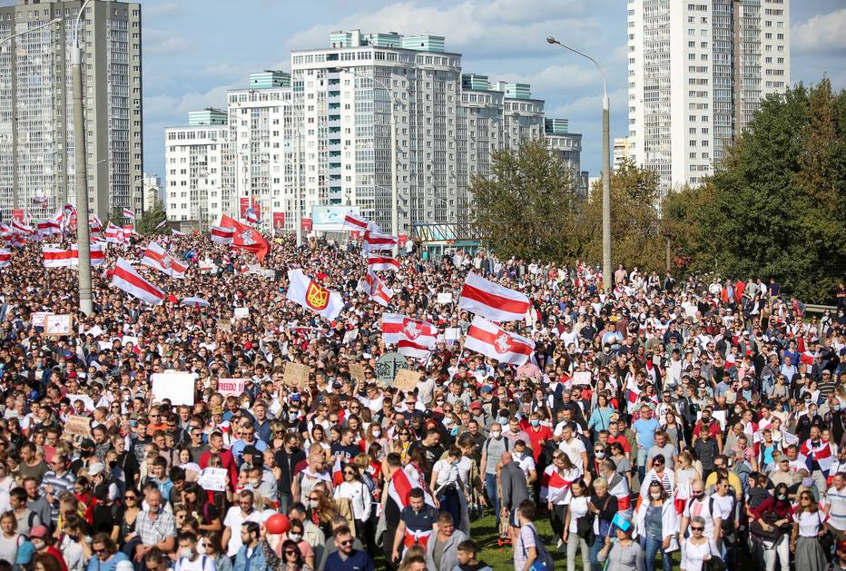 Protesto na Bielo-Rússia