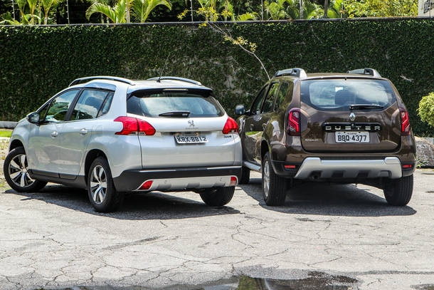 Comparativo: Renault Duster CVT x Peugeot 2008 AT6