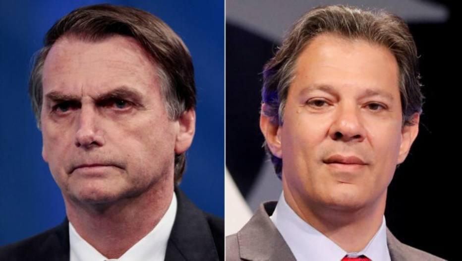 Montagem Bolsonaro Haddad