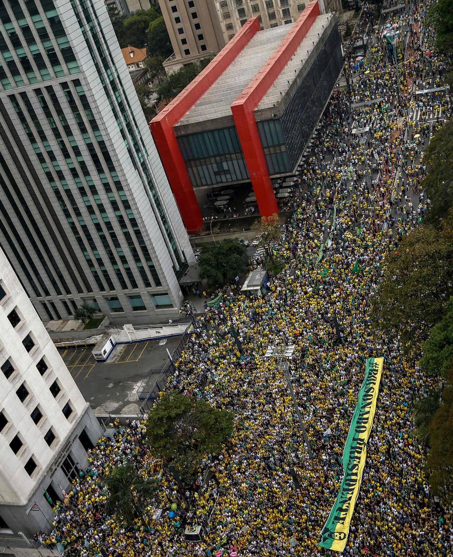 Ato a favor de Jair Bolsonaro na Avenida Paulista