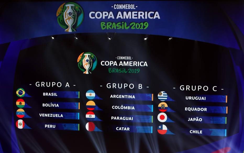Resultado de imagem para copa américa 2019 sorteio