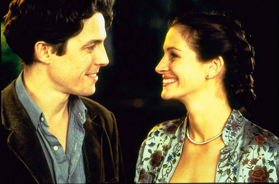 Cena de Um Lugar Chamado Notting Hill, com Julia Roberts e Hugh Grant