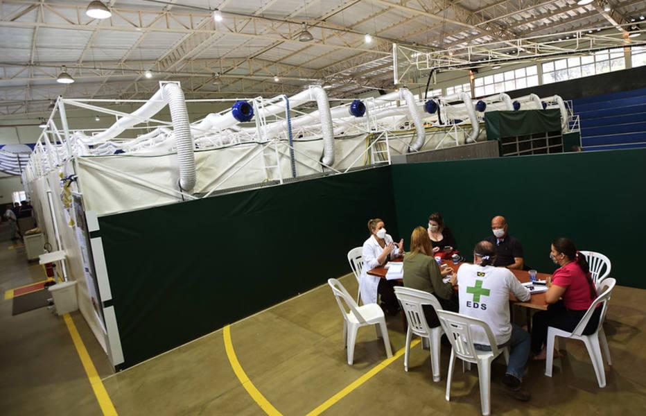 Hospital de campanha em Campinas