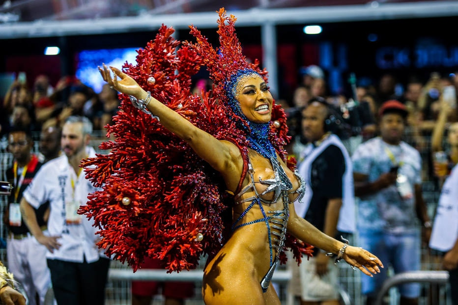 2º dia de desfile das escolas de samba de SP - Anhembi