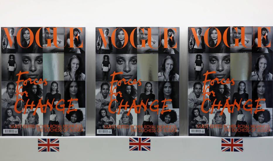 Vogue britânica editada por Meghan Markle