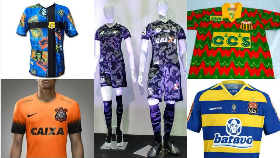 aaaa3ec10a334 Cores e ideias bizarras  as camisas mais feias do futebol brasileiro