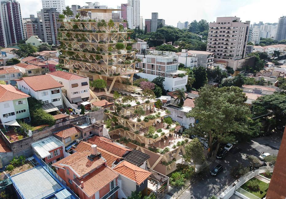 Edifício Floresta Urbana será o primeiro prédio totalmente de madeira de São Paulo
