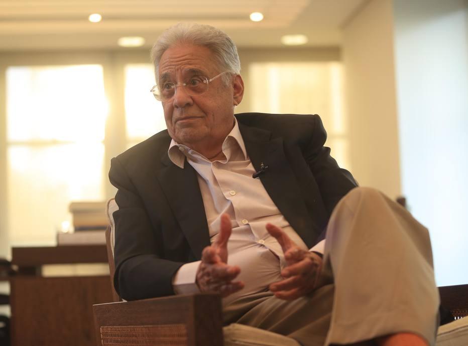 Fernando Henrique Cardoso, em seu escritório, em São Paulo