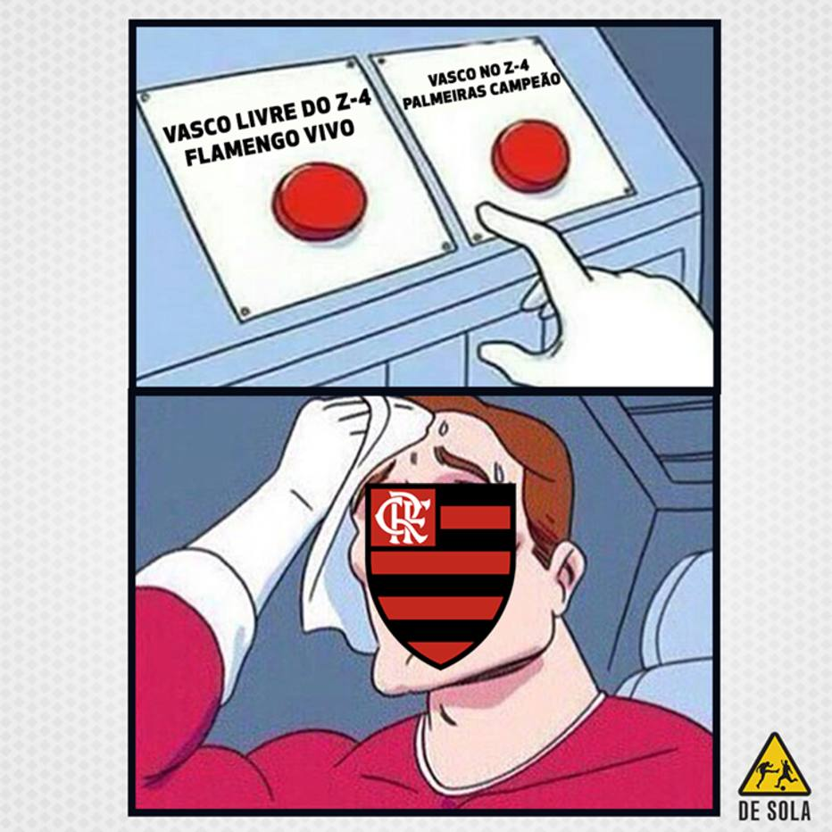 Flamengo vira motivo de zoação por depender do Vasco   quer ironia ... 7724c4d10e433