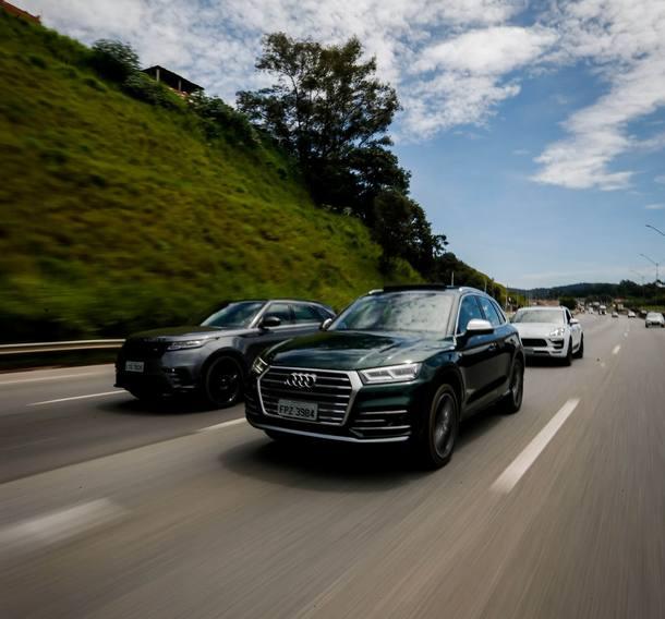Range Rover Velar, Audi SQ5 e Porsche Macan