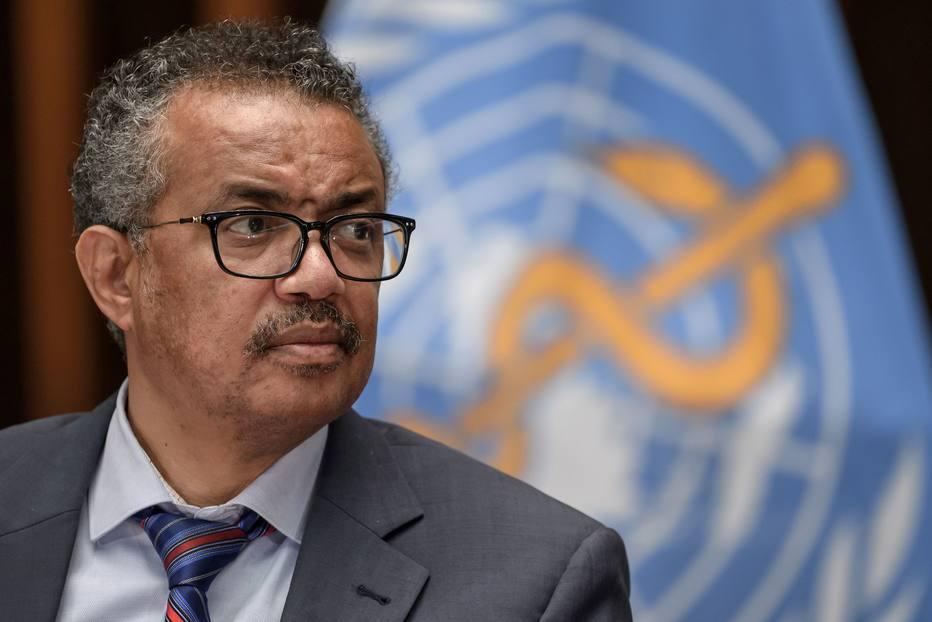 Diretor-geral da Organização Mundial da Saúde, Tedros Adhanom, durante coletiva de imprensa para atualização da situação da covid-19, em Genebra, na Suíça