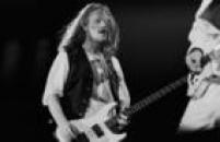 Humberto Gessinger, baixista e vocalista do Engenheiros do Havaii, durante apresentaçãoo do grupo no festival Rock in Rio II, 19/01/1991