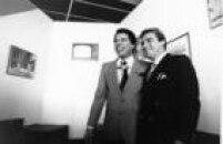 Os apresentadores do SBT, Silvio Santos e Gugu Liberato, São Paulo, SP.15/4/1988.