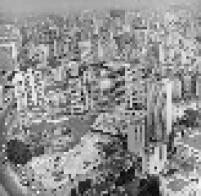Vista aérea da Praça Roosevelt em 24 de janeiro de 1970, tendo do seu lado esquerdo a Igreja da Consolação, na região central da cidade de São Paulo.
