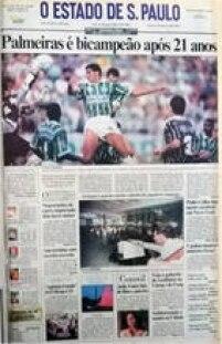 Conquista do Brasileirão de 1993 foi<a href='http://acervo.estadao.com.br/pagina/#!/19931220-36587-nac-0001-pri-a1-not' target='_blank'>capa do Estadão de 20/12/1993</a>