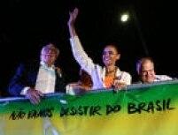 A candidata do PSB à Presidência, Marina Silva, realiza comício na Praça do Relógio, em Duque de Caxias, na Baixada Fluminense,Rio de Janeiro, RJ, 25/09/2014.
