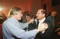 O governador de São Paulo, Geraldo Alckmin, e o rabino Henry Sobel participam de coquetel da FundaçãoMário Covas, São Paulo, SP. 21/4/2004.