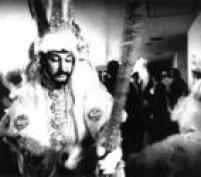 O carnavalesco Clóvis Bornay em um concurso de Fantasias,28/01/1972.Bornay era figura marcante em todos os concursos que de tanto ganhar foi considerado hors concours, concorrente de honra não sujeito à premiação