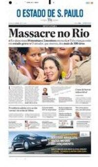 Massacre de Realengo.Ataque na zona oeste do Rio de Janeiro em 7 de abril de 2011 acabou com a morte de 12 alunos e do próprio atirador