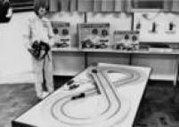 O autorama tinha versões com nomes de pilotos brasileiros que estavam em evidência na F-1, como Fittipaldi,Piquet e Senna. Foto 1972
