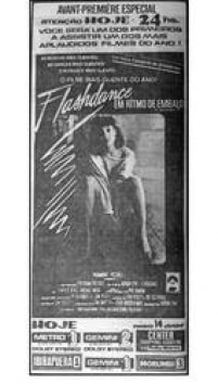 Cartaz de<a href='http://https://acervo.estadao.com.br/pagina/#!/19830806-33257-nac-0036-999-36-clas' target='_blank'> Flashdance</a>, publicado no Estadão de 06/8/1983
