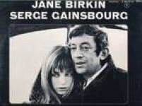 Serg Gainsbourg e Jane Birkin em capa de disco