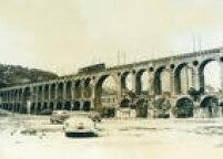 OsArcos da Lapa, no bairro da Lapa, na cidade do Rio de Janeiro na década de 1950