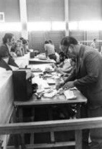 Apuraçãodos votos durante as eleições de 1972, em São Paulo.