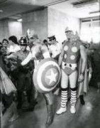 Desembarque dos super-heróis em Congonhas causa comoção no aeroporto, 04/10/1981.