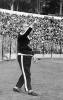 Aymoré Moreira, técnico da Seleção Brasileira de Futebol, durante o jogo do Brasil contra aTchecoslováquia, 02/6/1962.A partida terminou empatada em 0 a 0.