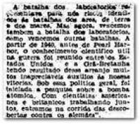 Bomba atômica foi resultado de<a href='http://acervo.estadao.com.br/pagina/#!/19450807-23272-nac-0001-999-1-not/busca/pesquisa' target='_blank'>esforço de cientistas</a>americanos e britânicos