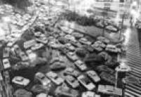 Congestionamento em dia de chuva próximo ao cruzamento das avenidas Consolação e São Luís, no centro da capital paulista,SP. 10/10/1972.
