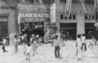 A festa do papel picado na Avenida Duque de Caxias, em 1979