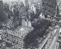 Praça do Correio em 1977. Seu nome vem do fato de receber a sede da então Agência Central dos Correios e Telégrafos.