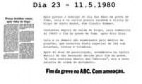 Após visita de<a href='http://acervo.estadao.com.br/pagina/#!/19800513-32257-nac-0032-999-32-not' target='_blank'>Dom Claudio Hummes</a>, Lula encerra protesto.