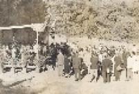 Inauguração de uma exposição no Jardim Botânico em 1956.