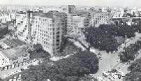 Hospital das Clínicas em 1974. A instituição, ligada a Universidade de São Paulo, foi inaugurada em 1944, pelo então interventor federal em São Paulo, Fernando Costa.