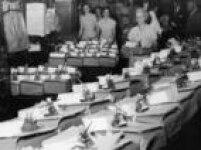 Arquivos em papel das apaurações de votos das eleições de 1958, no Tribunal Regional Eleitoraldo Rio de Janeiro.