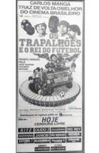 Cartaz de O<a href='http://acervo.estadao.com.br/pagina/#!/19860626-34147-nac-0085-cd2-9-clas' target='_blank'>s Trapalhões e o Rei do Futebol</a>, publicado no Estadão de 26/6/1986