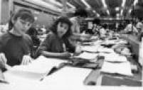 Apuração dos votosdo primeiro turno das eleições para o governo do Estado de SP em 1990.