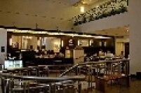 Vista geral da Cafeteria Cafezal no saguão do Centro Cultural Banco do Brasil, na Rua Álvares Penteado, centro de São Paulo.