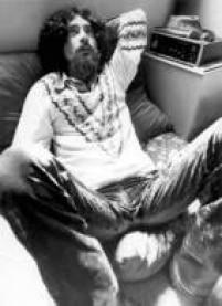 Retrato do cantor e compositor Raul Seixas durante entrevista em 24/9/1973.