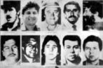 Traficantes colombianos, entre eles Pablo Escobar, procurados pela DEA, departamento americano de combate às drogas.