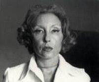 Retrato da escritora Clarice Lispector, que nasceu na Ucrânia, mas foi criada e viveu por toda a sua vida no Brasil.São Paulo, SP. 1974.