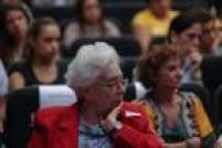 Clara Charf, viúva do guerrilheiro Carlos Marighella, na sessão de estreia do filme 'Estranhos na Noite - Mordaça no Estadãoem tempos de censura'.