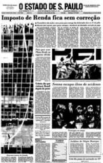 OEdifício Wilton Paes de Almeida na<a href='http://acervo.estadao.com.br/pagina/#!/19910615-35687-nac-0001-999-1-not' target='_blank'>capa do Estadão</a>de 15 de junho de 1991. O prédio era sede da Polícia Federal e o delegado Romeu Tuma lançou do oitavo andar um processo contra um médico fraudador da Previdência Social.
