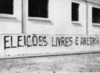 Paredes pichadas em Sorocaba, interior de São Paulo, contra a ditadura militar em 1966.