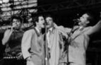 Apresentação do cantor Léo Jaime com os Miquinhos Amestradosno palco do<a href='http://https://fotos.estadao.com.br/galerias/acervo,rock-in-rio-em-imagens-historicas,33985' target='_blank'>Rock in Rio II</a>, 27/01/1991