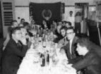Coquetel oferecido no clubepara técnicos, dirigentes e jornalistas em abril de 1958