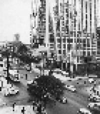 Vista da Avenida Paulista, na região central de São Paulo, em 1968